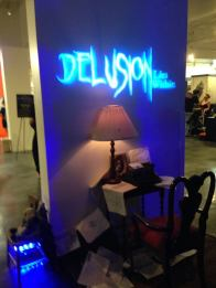 A display for Delusion, the haunted play, which will return to the West Adams district for Halloween 2014.