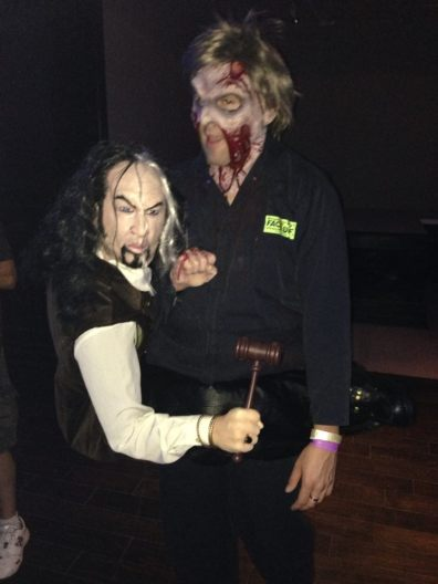 Two (?) guests at the Ghostly Gala party (Copyright 2014 Yuki Tanaka)