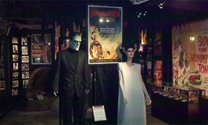 The Frankenstein exhibit at Hollywood Museum