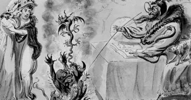 Isaac Cruikshank (British, 1764–1810), Raising Evil Spirits, 1795, pen and watercolor over pencil, 6 5/8 × 9 1/8 in. The Huntington Library, Art Collections, and Botanical Gardens, 71.79.86
