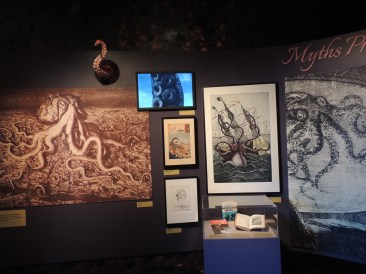 Octopi depicted as myths and monsters. Octopi depicted as myths and monsters. Photo by Paul Trinies.