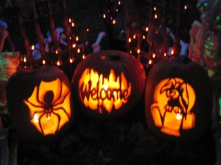 Haunting in Sylmar trio of Jack O'Lanterns
