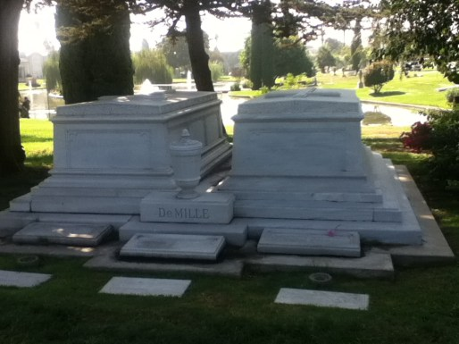 The final resting place of Cecil B. DeMille, director of numerous blockbuster movies.