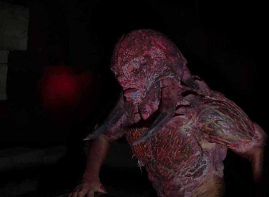 Los Angeles Haunted Hayride 2014 demon with glowing veins