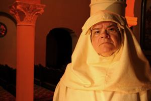 Wendy Worthington as a nun with a dark secret