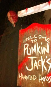 pumkin jack's haunted house sign