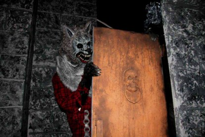 A werewolf lurks behind the door of the Dark Realm.