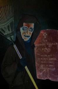 Gravedigger's titular character. Photo courtesy of Zombie Joe's Underground Theatre