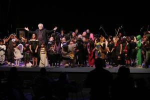 Rubinstein with his volunteer conductors