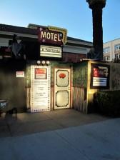 Motel 6 Feet Under entrance twilight