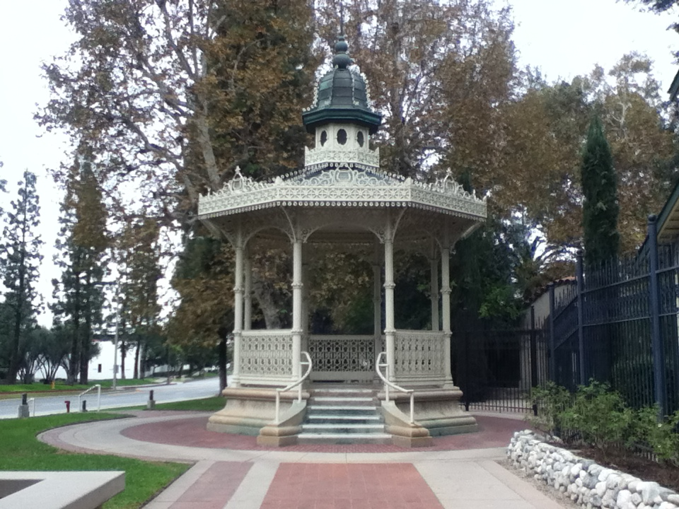 The gazebo outside the Homestead Museum