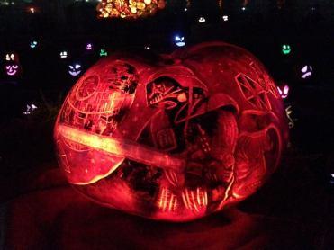 Rise of the Jack O'Lanterns 2015 darth vader