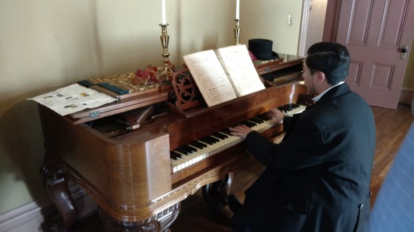 Live music at the Victorian Fall Party in the Perry Mansion (photo by Warren So)