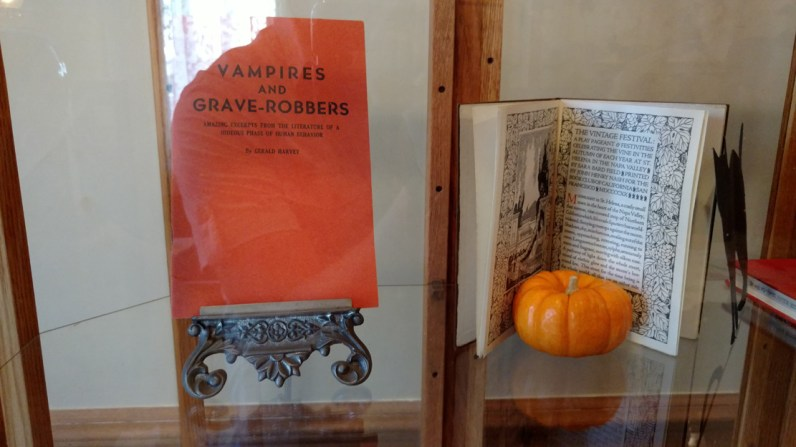 Spooky reading material (photo by Warren So)