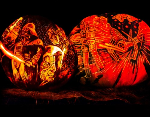 Rise of the Jack O'Lanterns star_wars_art_pumpkins