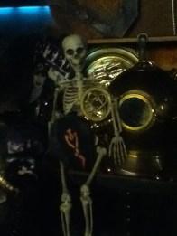 Skeleton window display