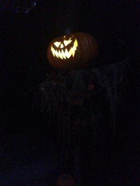 Knotts Scary Farm 2017 Jack O'Lantern scarecrow exterior