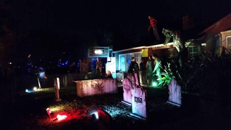 Backwoods Maze 2016 yard display