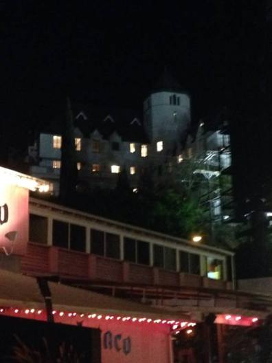 Chateau Marmont behind Pink Taco