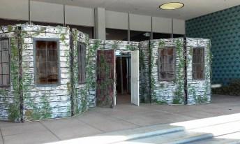Into the Black 2017 haunted house facade