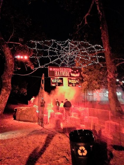 Los Angeles Haunted Hayride 2017 hayride entrance
