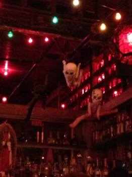 West Hollywood Haunted Pub Crawl: Pink Taco skeleton balloons