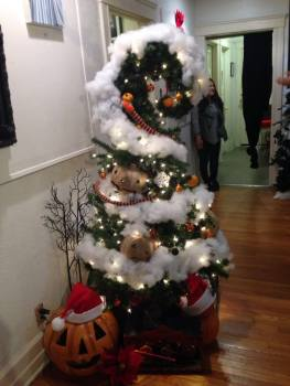 The Nightmare Before Christmas themed tree