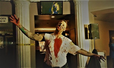 Zombie in the lobby