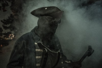 Knotts Scary Farm 2018 Review The Hollow Soldier in Fog