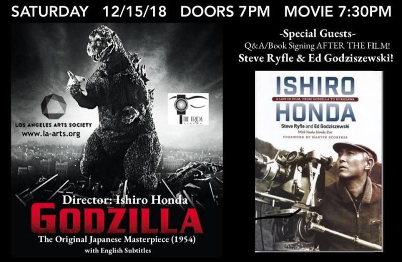 Godzilla screening book signing Ryfle