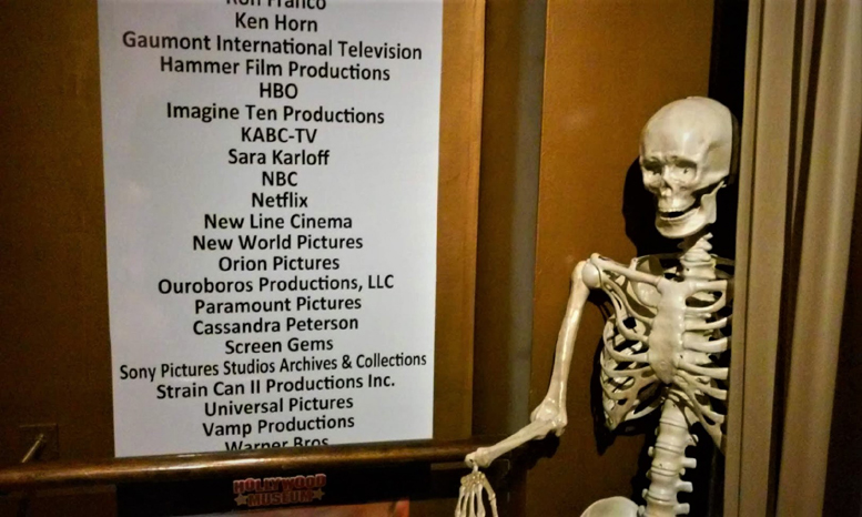 Hollywood Museum Dungeon of Doom skeleton