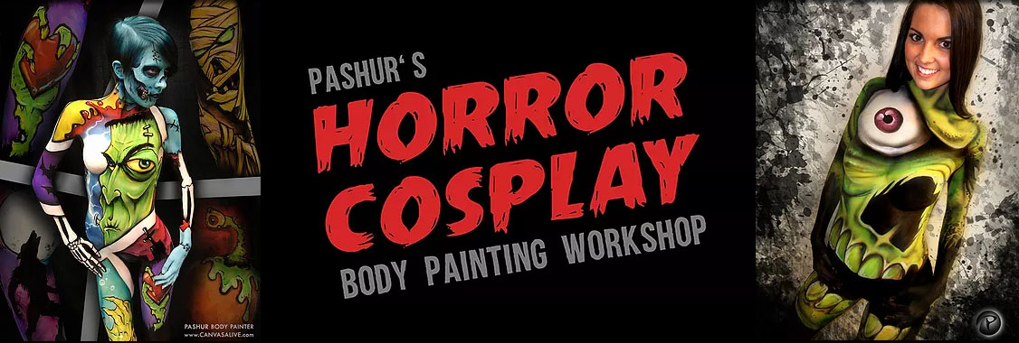 Horror Cosplay Body Painting Workshop
