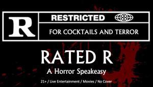 Rated R Horror Speakeasy logo