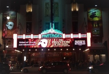 2019 production of Andrew Lloyd Webber's The Phantom of the Opera at the Pantages Hollywood.