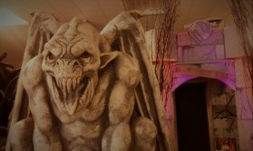 Gargoyle guarding the exit