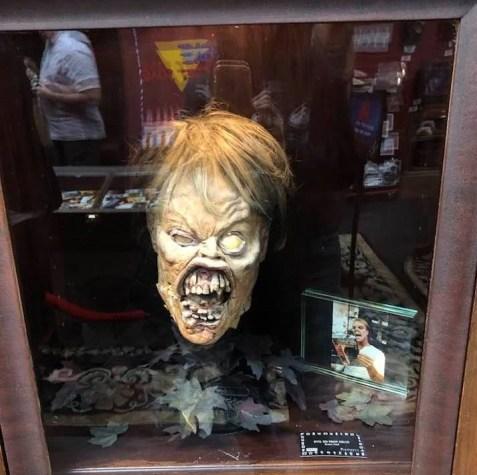 Prop head from Evil Dead II