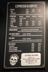 Rad Coffee menu