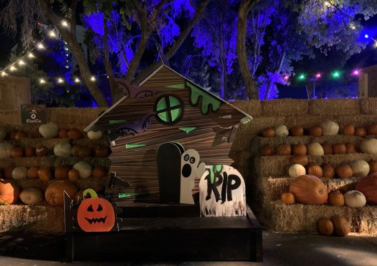 Spooky mini-house in the pumpkin patch