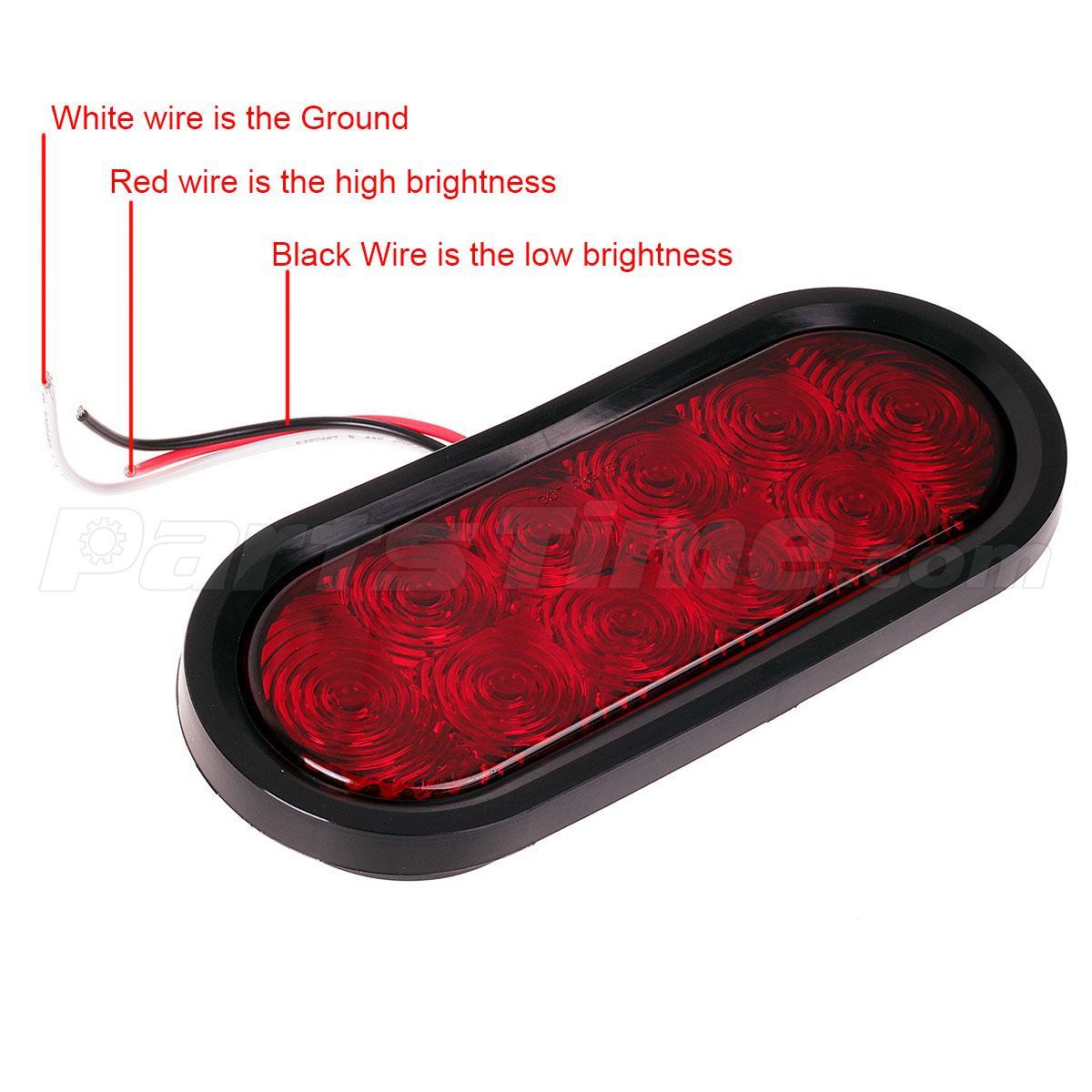 (2) Trailer truck Red LED Flush Mount 6