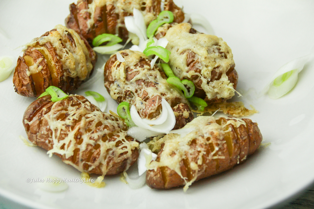 gluten free recipe for cheesy hasselback potatoes vegetarian