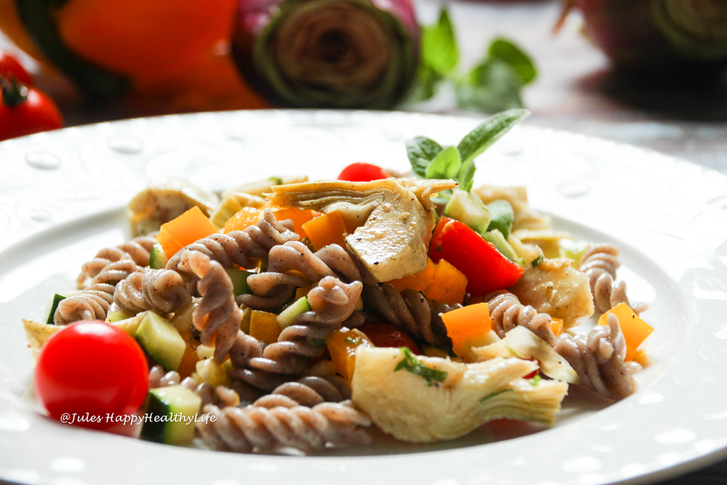 Italienischer Pasta Salat mit glutenfreien Buchweizen Nudeln