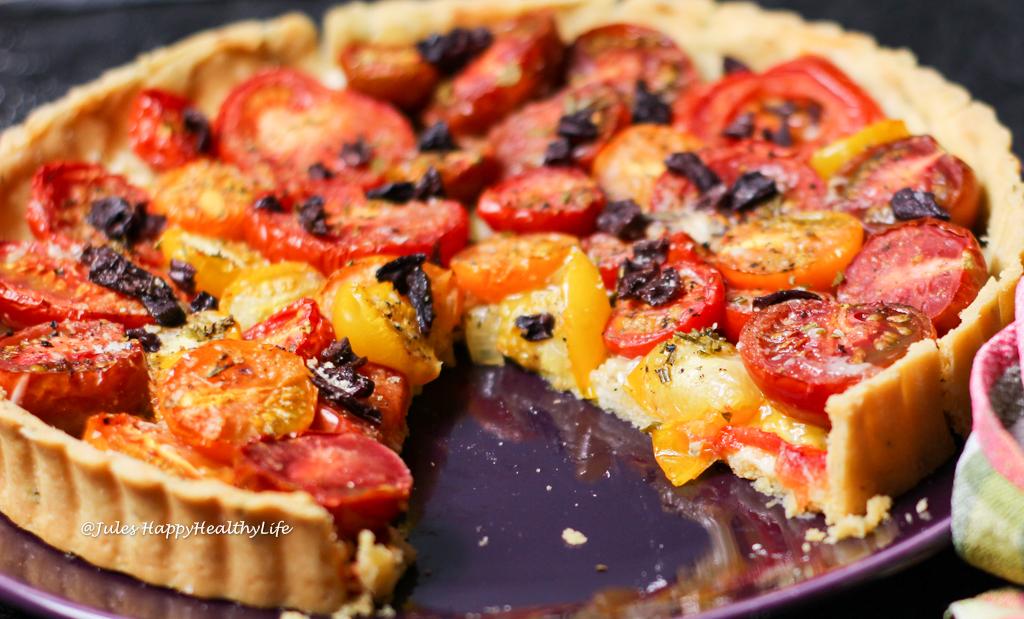 Rezept für eine einfache, glutenfreie Tomaten Tarte
