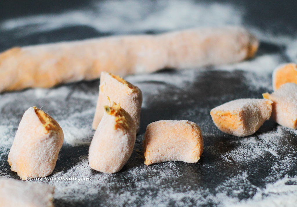 Simple recipe for homemade Sweet Potato Gnocchi in Sage Butter