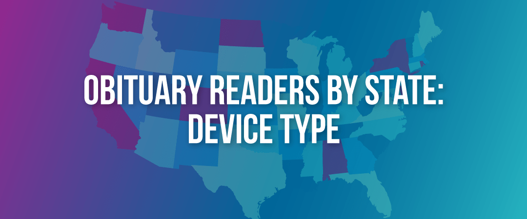 Obituary Readers by State: Device Type