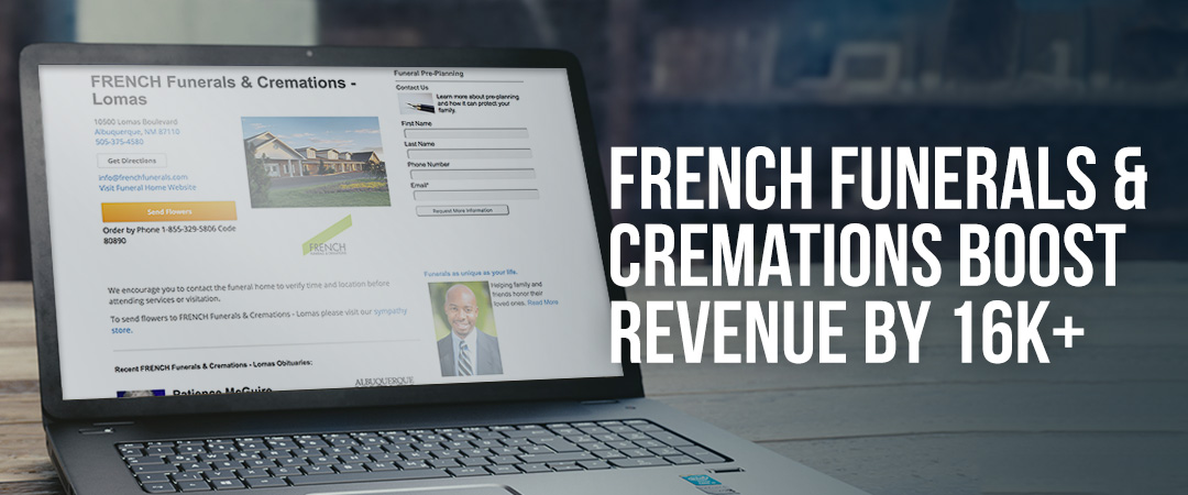French Funerals Receives Over $16k in Pre-Need Lead Sales from Legacy.com