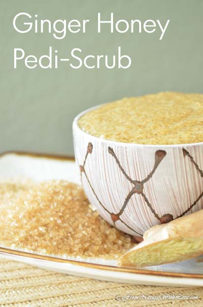 Ginger Honey Pedi-Scrub Recipe | www.NaturalBeautyWorkshop.com