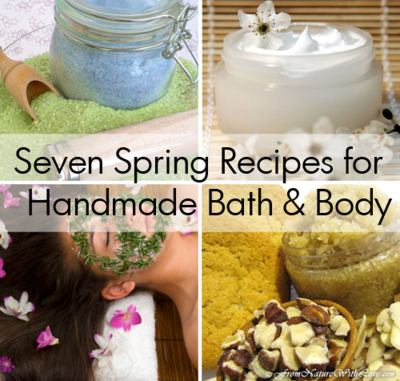 Seven Spring Recipe for Handmade Bath & Body | The Natural Beauty Workshop