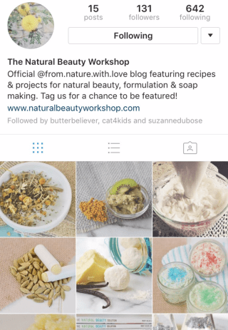 @naturalbeautyworkshop on Instagram