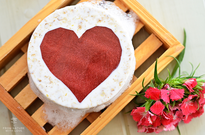 Oatmeal Honey Heart Soaps
