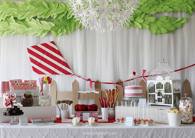 Nice Party mesa de dulces cumpleaños Mary Poppins